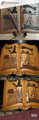 Open Book w/ pencil Da vince wood carving in Oak NWT in 2020 | Man sketch,  Wood carving, Vitruvian man