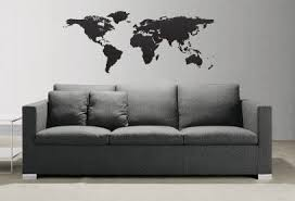 Amazon Com World Map Globe Earth Country Wall Decal By Stickerbrand 41in X 71in Size 131 41x71 You Pick The Color Arts Crafts Sewing