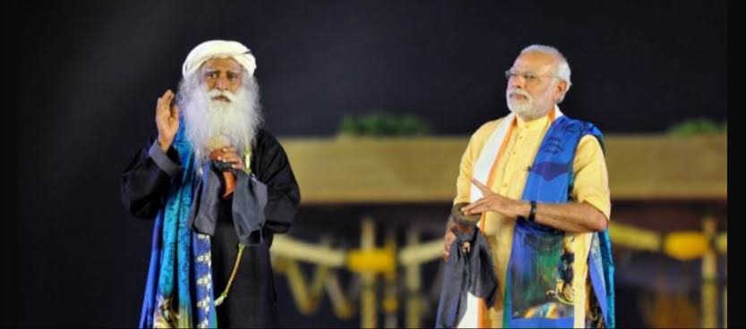Image result for SADHGURU AND MODI""