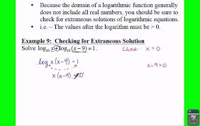 pre calculus 3 4 solving logarithmic