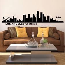 Los Angeles California City Skyline Silhouette Wall Decal Vinyl Art Sticker Home Decor 25cm X107cm Stickers Home Decor Home Decorcity Skyline Aliexpress
