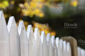 White Fence Stock Photo Download Image Now Istock