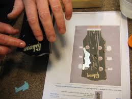 Vintage Gibson Les Paul Junior Headstock Rebuild Chicago Fret Works Guitar Repair