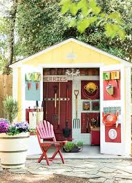 small garden shed organized solutions