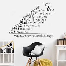 Motivation Quote Wall Decal Which Step Have You Reached Today School Class Rooms Quote Stickers Office Decals Wall Decor Lc1228 Wall Stickers Aliexpress