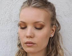 smokey bronze halo eye makeup tutorial