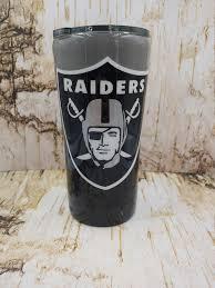 Oakland Raiders Tumbler Raiders Tumbler Football Team Etsy