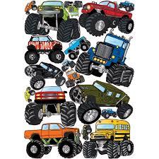 Monster Truck Wall Stickers Truck Decals Graphics Wall Decor Walmart Com Walmart Com