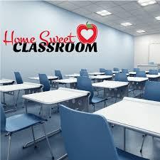 Home Sweet Classroom Wall Decal Vinyl Decal Car Decal Vdcolor007 25 Inches Walmart Com Walmart Com