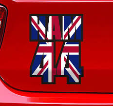 Lewis Hamilton 44 Outline Car Sticker Tenstickers