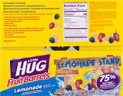 little hug juice barrels nutrition