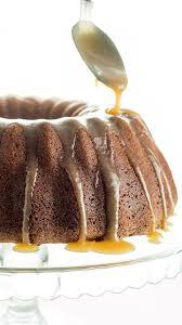 bundt cake with caramel glaze