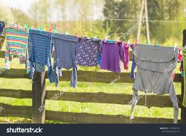 Washing Line Drying Clothes Outdoor Clothes Stock Photo Edit Now 1079724752