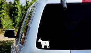 Tampa Tom Brady Goat Goat Decal Sticker Superbowl Car Truck Etsy