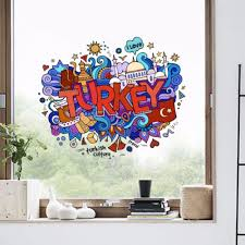 I Love Turkey Illustration Fashion Wedding Decor Vinyl Waterproof Wall Sticker Bedroom Wallpaper Wall Decal Baby Rooms Decor 100cm Wall Graphic Decals Wall Graphic Vinyl From Diylab 23 12 Dhgate Com