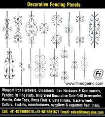 Decorative Wrought Iron And Ornamental Iron Components Fencing Hardware Railing Parts Gate Grill Parts Wrought Iron Hardware Accessories Manufacturers Exporters In India Uk Usa Germany Italy Canada Uae Http Www Finedgeinc Com Contact No