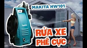 RỬA XE TẠI NHÀ CHƯA BAO GIỜ DỄ HƠN | Mở hộp máy xịt rửa áp lực cao Makita  HW101 - YouTube