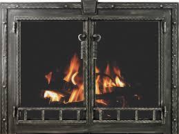 rustic fireplace doors stoll