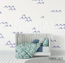 Ocean Waves Wall Decals Kids Room Wall Decor Sea Waves Wall Stickers Ocean Fabdecals Walldecals Nurcerydecor