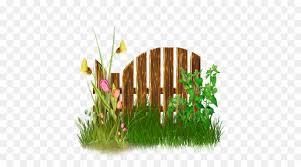 Floral Flower Background Clipart Fence Grass Illustration Transparent Clip Art