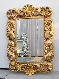 gold baroque rococo mirror bordeaux 110