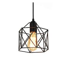 ge 6187 wire cage pendant light b home