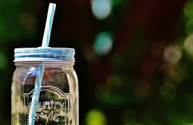 clear country style gl mason jar