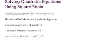 solving quadratic equations ppt