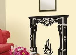 Wall Decals Fire Vinyl Sticker Flame Decal Home Decor Fireplace Independence