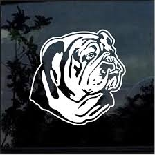 Bulldog English American Bull Dog Window Decal Sticker Custom Sticker Shop