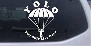 Yolo You Only Live Once Skydiving Car Or Truck Window Decal Sticker Rad Dezigns