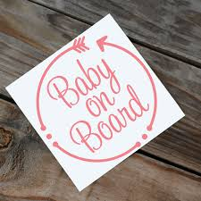 Baby On Board Decal Baby Window Decal Baby On Board With Etsy Arrow Decal Car Decals Vinyl Window Decals