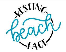 Amazon Com Resting Beach Face Permanent Vinyl Decal Summer Punderful Stickers Resting Beach Face Permanent Swell Bottle Sticker For Water Bottle Laptop Wine Glass Handmade