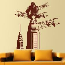 King Kong In New York Wall Stickers King Kong Wall Stickers New York Wall Stickers
