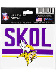 Vikings 3x4 Skol Decal Vikings Locker Room