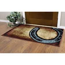luck of the horseshoe area rug 70937