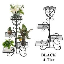4 tier metal flower pot plant stand