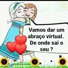 De onde vem um abraço virtual de Boa Tarde o Meu é de São Paulo