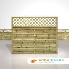 Horizontal Lattice Top Fence Panels 5ft X 6ft Natural Berkshire Fencing