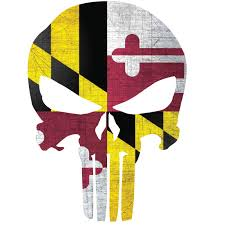 Maryland Flag Punisher Skull Window Decal Police Fire Ems Viny Graphics Stickers Decals Dkedecals