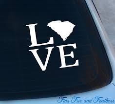 Love South Carolina Decal State Decal Home Decal Sc Etsy