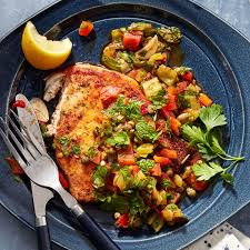 Swordfish Cutlets with Bell Pepper ...