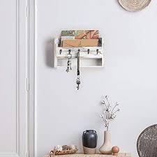 wall mount mail key holder organizer