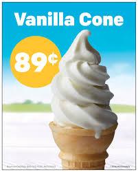 nutrition info mcdonalds ice cream cone
