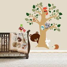 Forest Friends Room Peek A Boo Tree Woodland Animals Decal Nursery Wall Vinyl 75 00 Via Etsy Muurschildering Decoratie Dierenarts
