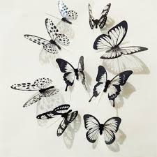 Best Price 2086e 18pcs 3d Crystal Wall Sticker Beautiful Butterfly Wall Stickers Kids Room Wall Decals Home Decoration Cicig Co