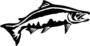 Chinook Salmon Leap Wall Decal Fish Silhouette Salmon Alaska Art