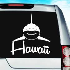 Hawaii Shark Front View Vinyl Car Window Decal Sticker