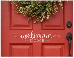 Front Door Welcome Home Decal Cute Welcome Sticker Greeting Etsy