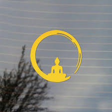 Buddha Brushstroke Vinyl Decal Sticker Free Us Shipping For Car Laptop Tablets Etc